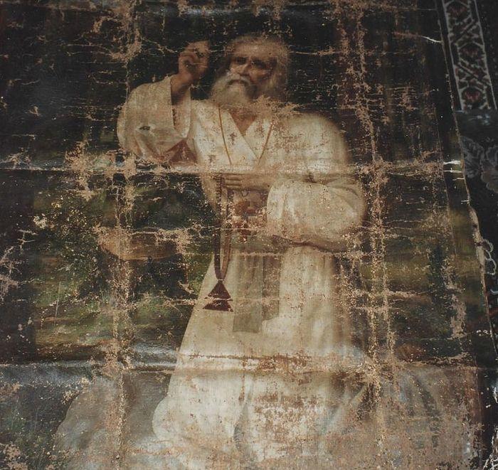 Образ прп. Серафима Саровского, хранившийся у отца Серафима Шустова