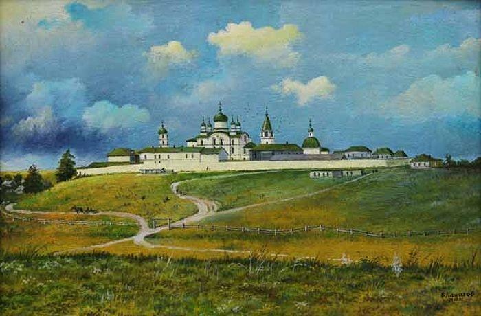 Спасо-Зеленогорский монастырь. Старинная картина