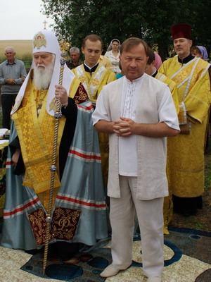 Фото: Василий Червоний с «духовным отцом»