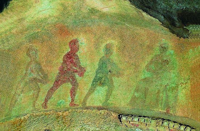 Поклонение волхвов. Фреска из римских катакомб. II-III вв
