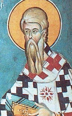 Apostle Phlegon. Fresco. Monastery of St. John Lampadistis, Kalopanayiotis, Cyprus. 1400.