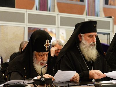 Патриарх Илия II благословил свою паству на сугубые молитвы на время собрания в Шамбези