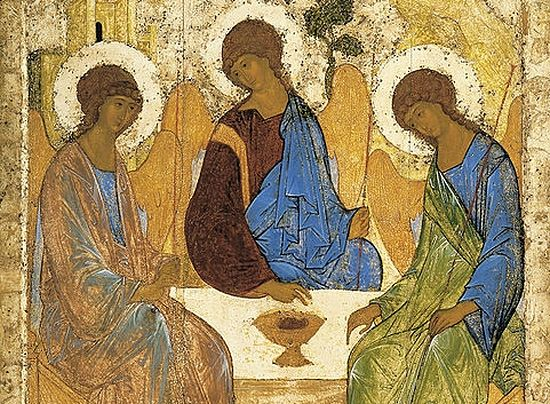 A. Rublev. Angels at Mamre (Holy Trinity)