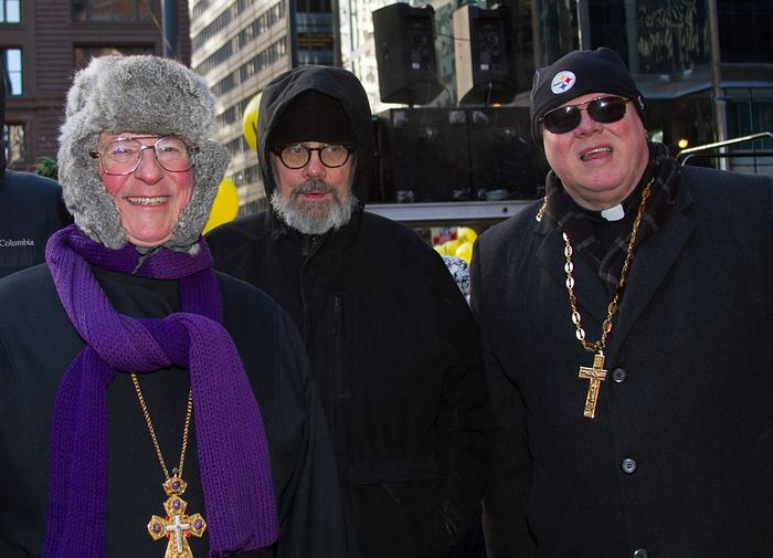 Fr. John Adamcio, Dn. Thomas Keith, and Fr. Andrew Bartek were among the clergy who participated in the March for Life. (Photo: Regina D'Amico)