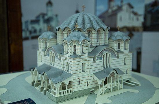 Макет храма. Фото: Алексей Совертков/«Русская планета»