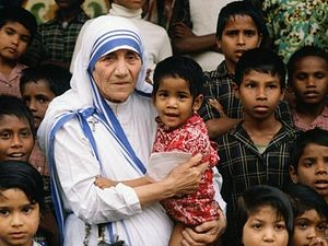 Mother Theresa, who served the poor in India for decades