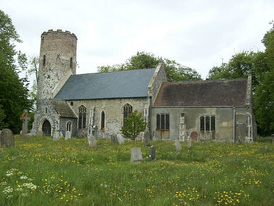 Church of Sts. Peter and Paul in Burgh Castle, Norfolk