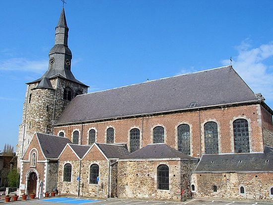 St. Foillan's Church in Fosses-la-Ville, Belgium