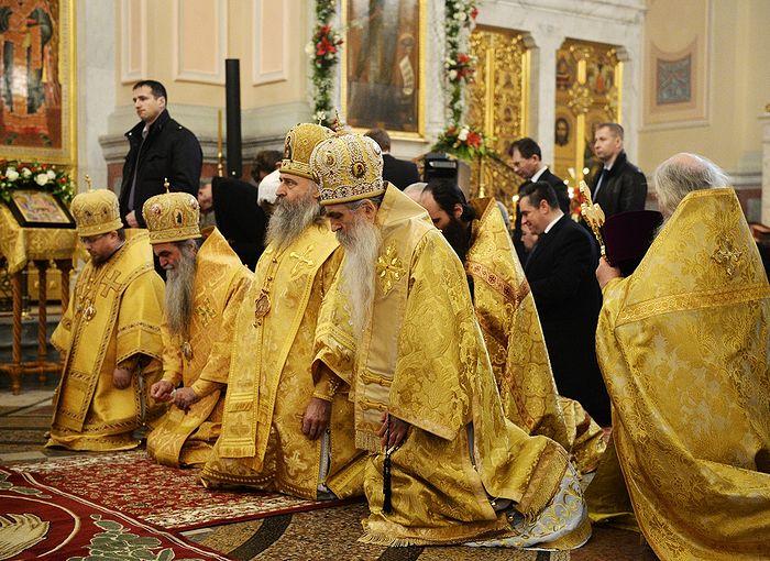 Патриаршее богослужение 14 декабря 2014 г. Великое освящение собора Усекновения главы Иоанна Предтечи