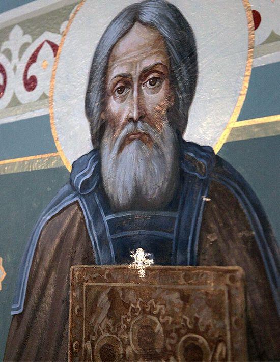 Черкасская область: на образе преподобного Сергия Радонежского проступил крест
