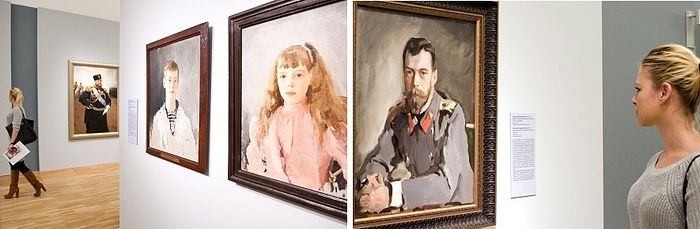 Emperor Alexander III, Grand Duke Mikhail Alexandrovich, Grand Duchess Olga Alexandrovna, Emperor Nicholas II