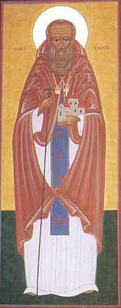 An icon of St. Gildas the Wise