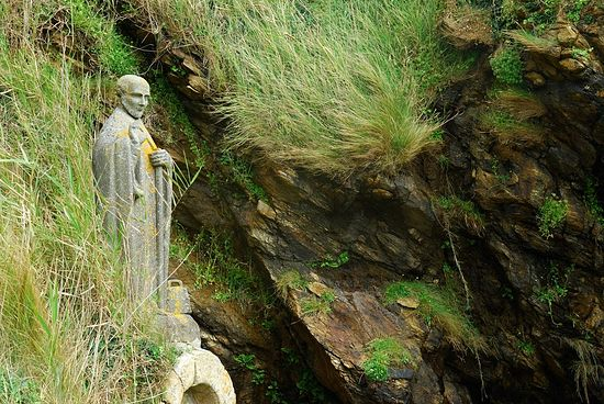 Statue of St. Gildas in Saint-Gildas-de-Rhuys, Brittany