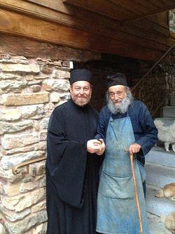 Протоиерей Александр Акулов со старцем Григорием