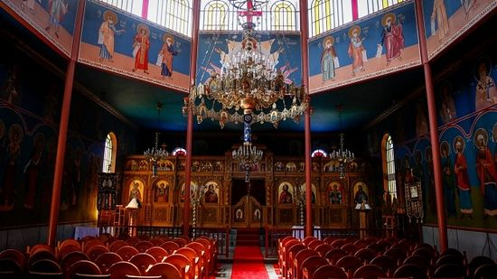 The Byzantine interior of the Greek Orthodox Monastery of Panagia Kamariani in Red Hill. Photo: Eddie Jim