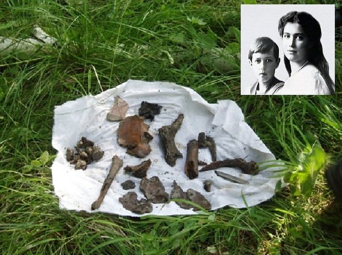 All that remains of Tsarevich Alexei and Grand Duchess Maria are 44 bone fragments, from a few millimeters to a few centimeters long. Also found were seven teeth, three bullets and a fragment of a piece of clothing.