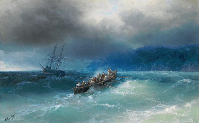 Иван Айвазовский. Шторм на Черном море. 1893 г.