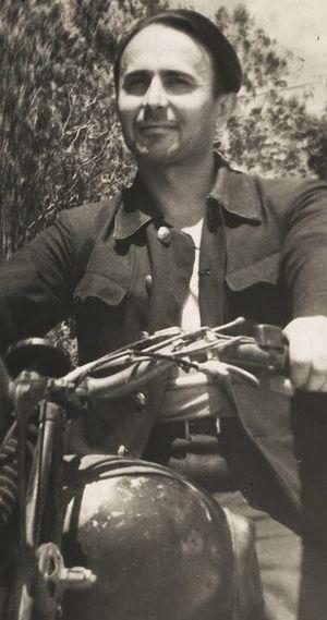 Митрофан на мотоцикле