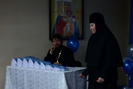 Слева - автор книги, сын матушки Людмилы игумен Филарет