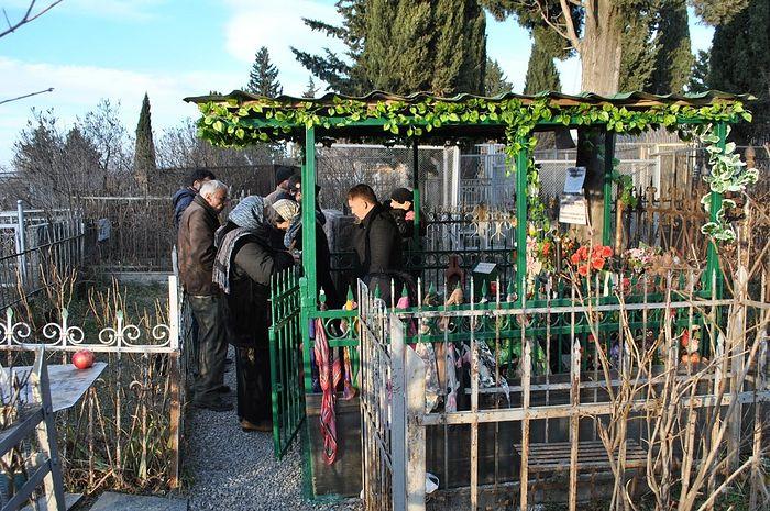 На могиле блаженной Анастасии
