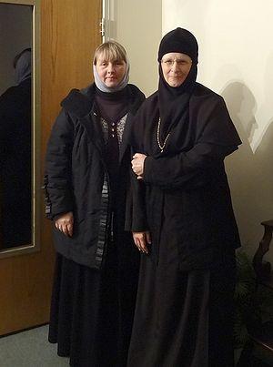 Игумения Емилиана и Ольга Рожнёва