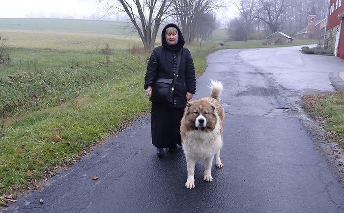 Ольга Рожнёва с Ломой