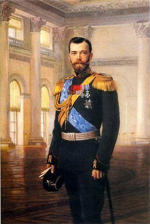 Император Николай II. Э.-К. Липгарт. Холст, масло. 1900 г.