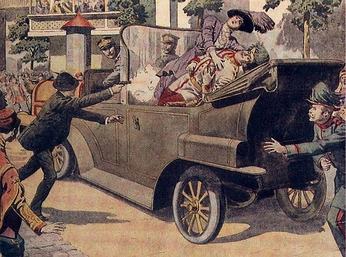 Убийство Эрцгерцога Фердинанда и его жены Софии. Сараево, 28 июня (11 июля ст. ст.) 1914 г.