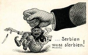 Австрийская карикатура «Сербия должна погибнуть»