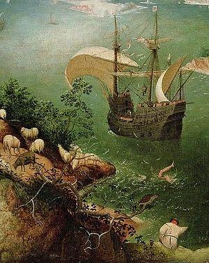 Питер Брейгель Старший. Падение Икара. ок. 1558