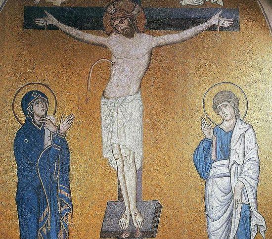 Мозаика. Византия. XII век. Греция. Монастырь Дафни