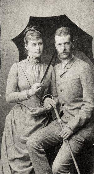 Великий князь Сергей Александрович и Великая княгиня Елизавета Федоровна. 1884 г. Фотография из собрания английской Королевской Семьи