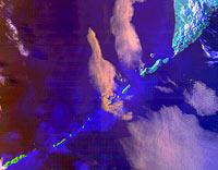 Курильские острова. Снимок из космоса