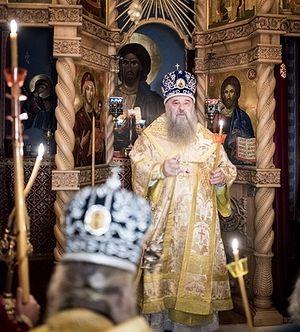 Митрополит Варсонофий Санкт-Петербургский в Русском на Афоне Пантелеимоновом монастыре