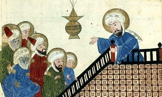 Muhammed preaching
