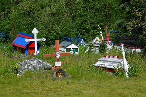 "Native Alaskan Orthodox ""spirit houses"""