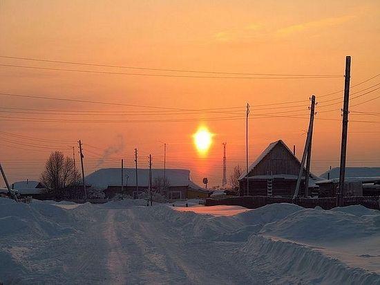 Тарска епархија. Једно од сибирских села