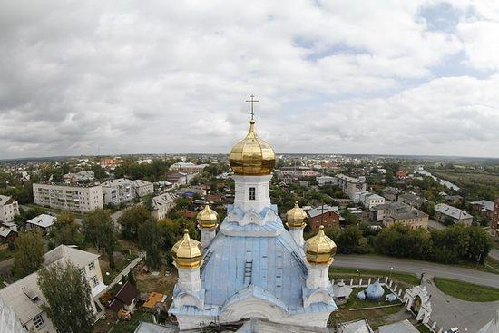Камышлов с колокольни Покровского собора