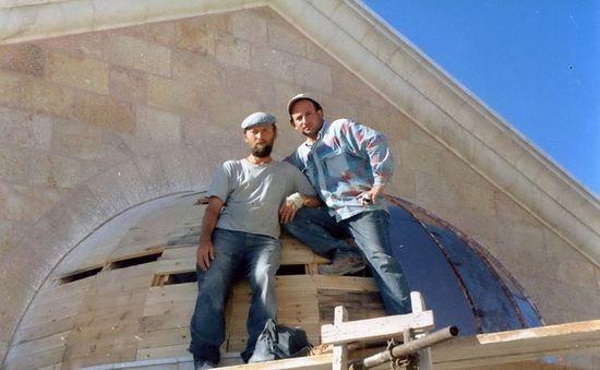 Вячеслав Ивашков на крыше Храма Господня в Иерусалиме