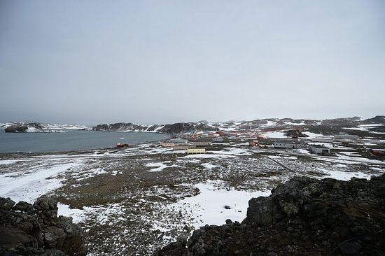 Вид на станцию на острове Ватерлоо