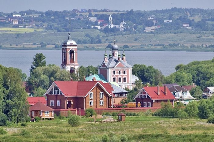 View of Lake Plescheevo with church of Forty Martyrs of Sebaste
