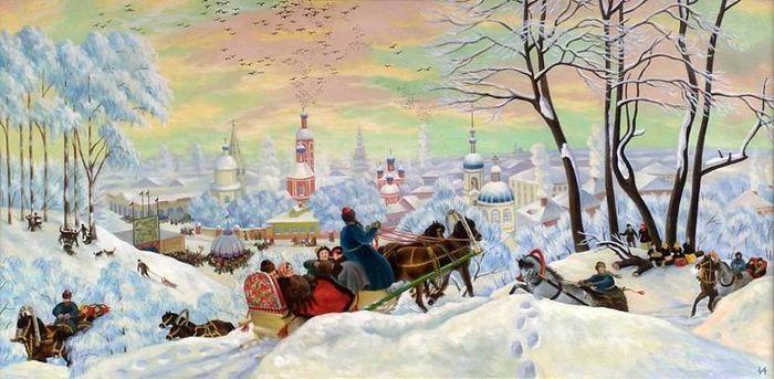 «Масленица». Б. М. Кустодиев