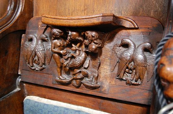 Medieval misericords at the cathedral (taken from Geograph.org)