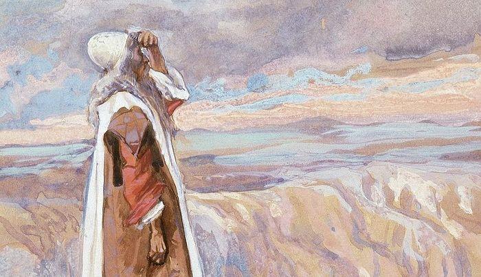 Давид Тиссо. Бог показывает Моисею Обетованную Землю