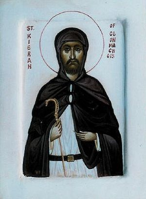 An icon of St. Kieran of Clonmacnoise