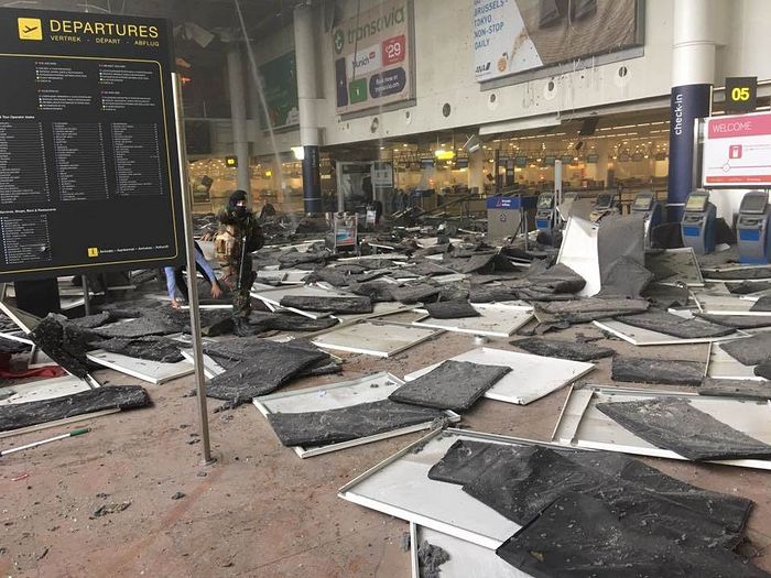Zavantem airport in Brussels in the wake of Tuesday's explosions. Jef Versele / Jef Versele