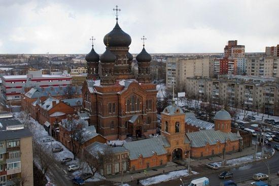 Введенский монастырь с высоты птичьего полета