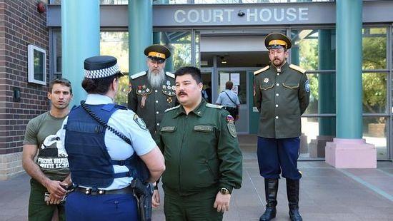 Member of Sydney's Cossack community outside Burwood court house. Photo: Nick Moir