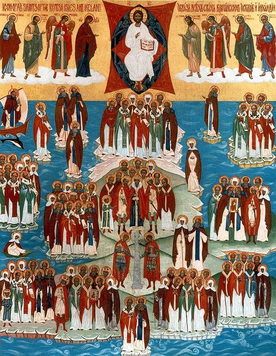Icon of All Saints of the British Isles and Ireland