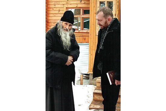 Схиархимандритр Илий (Ноздрин) и Николай Мельников